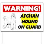 Afghan Hound On Guard Yard Sign