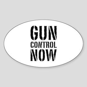 Gun Control Now Sticker (Oval)