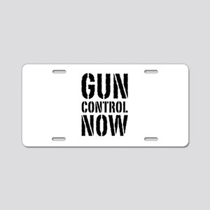 Gun Control Now Aluminum License Plate