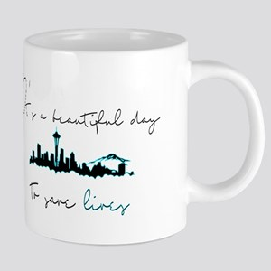 Seattle skyline Grey's Mugs