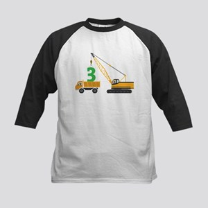 3rd Birthday Construction Baseball Jersey