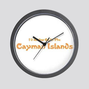 I'd Rather Be...Caymans Wall Clock