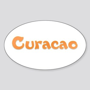 Curacao Oval Sticker