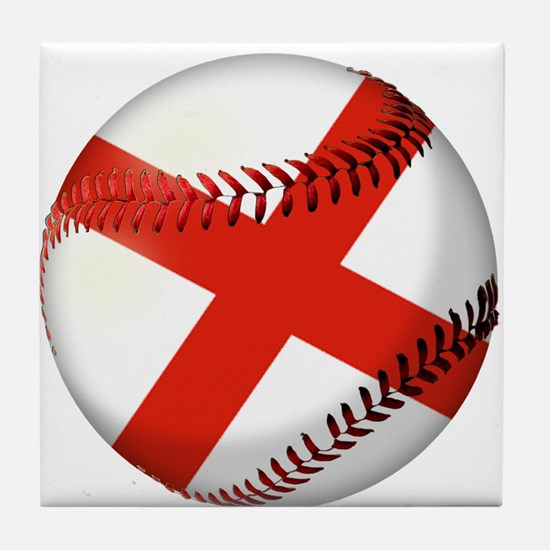 Baseball Alabama Flag Tile Coaster