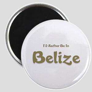 I'd Rather Be...Belize Magnet
