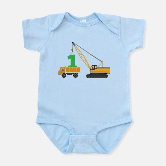 1st Birthday Construction Body Suit