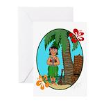 Hula Baby Greeting Cards (Pk of 20)
