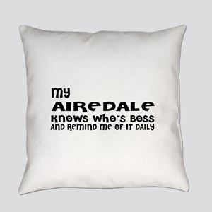 My Airedale Dog Designs Everyday Pillow