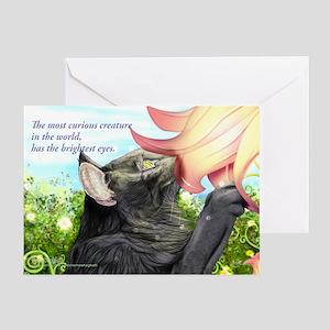 Loving curious cat Greeting Card