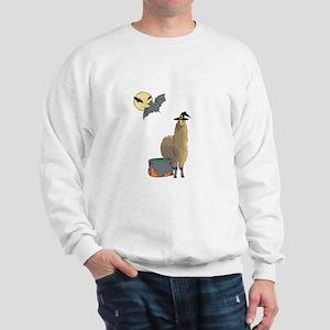 Alpaca Witch Halloween Sweatshirt