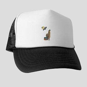 Alpaca Witch Halloween Trucker Hat