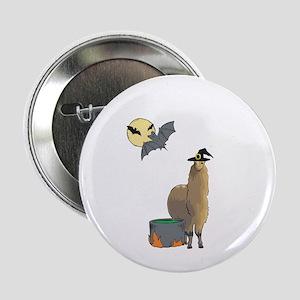 """Alpaca Witch Halloween 2.25"""" Button"""