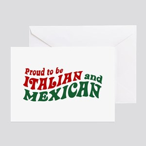 Proud Italian and Mexican Greeting Cards (Pk of 10