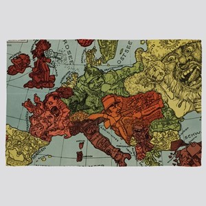 Funny Map During WW2 4' x 6' Rug