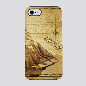 Old Map And Ship iPhone 8/7 Tough Case
