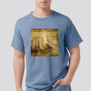 Old Map And Ship T-Shirt