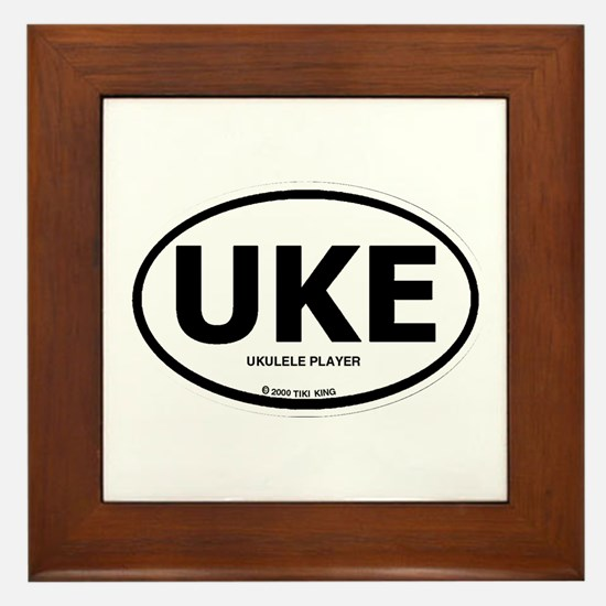 Cute Ukulele player Framed Tile