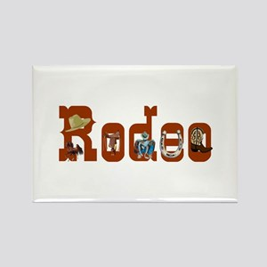 Rodeo Rectangle Magnet (10 pack)