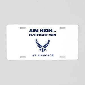 US Air Force Aim High Aluminum License Plate