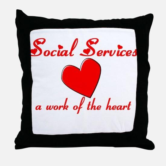 Social Worker Throw Pillow
