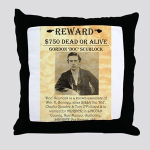 Wanted Doc Scurlock Throw Pillow