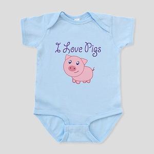 I Love Pigs Body Suit