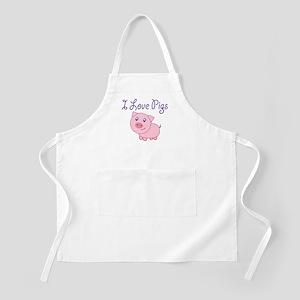 I Love Pigs Light Apron