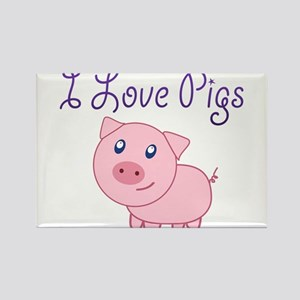 I Love Pigs Magnets