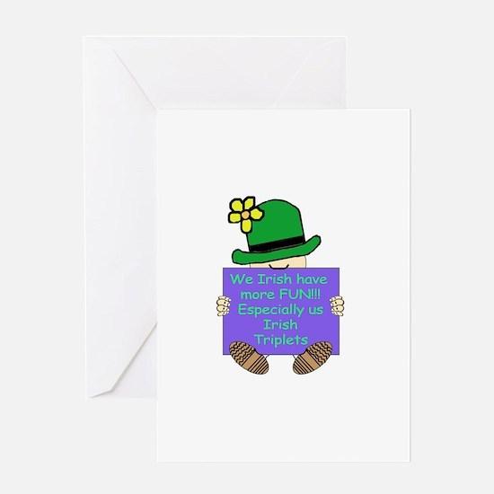 Irish Triplets Greeting Card