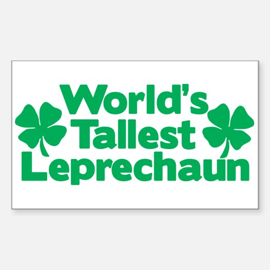 World's Tallest Leprechaun Rectangle Decal