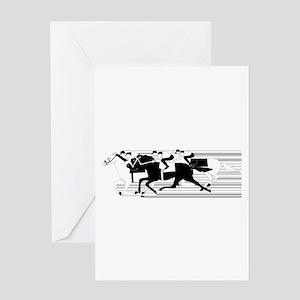 HORSE RACING! Greeting Card
