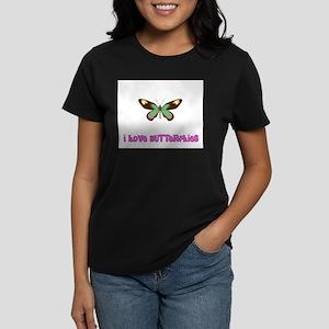 I Love Butterflies Women's Dark T-Shirt