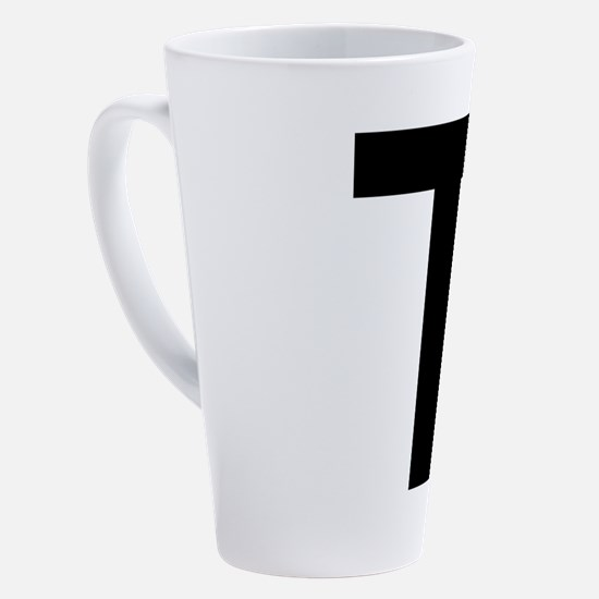 Cute Alphabet art 17 oz Latte Mug