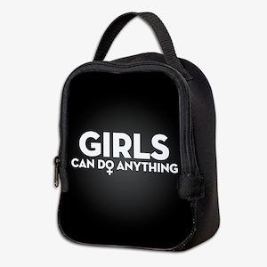 Girls Can Do Anything Neoprene Lunch Bag