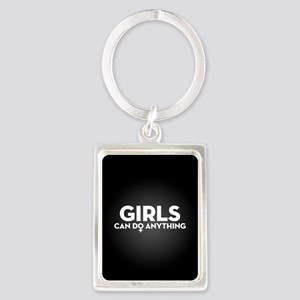 Girls Can Do Anything Portrait Keychain