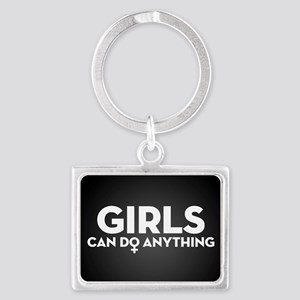 Girls Can Do Anything Landscape Keychain