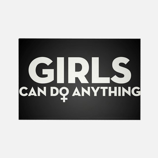 Girls Can Do Anything Rectangle Magnet (10 pack)