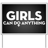 Girl power Yard Signs