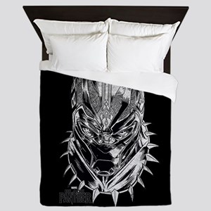 Black Panther Mask Queen Duvet