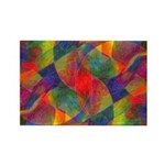 Worlds Abstract Rectangle Magnet