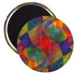 Worlds Abstract Magnet