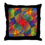 Worlds Abstract Throw Pillow
