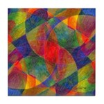 Worlds Abstract Tile Coaster