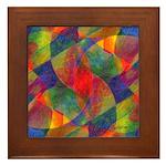 Worlds Abstract Framed Tile