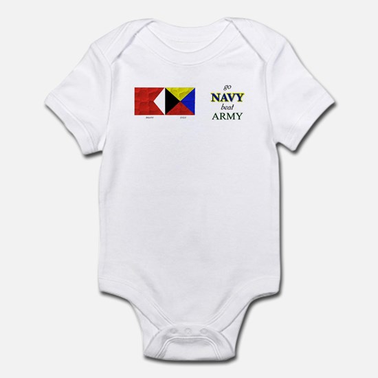 Bravo Zulu Beat Army in Flag! Infant Bodysuit