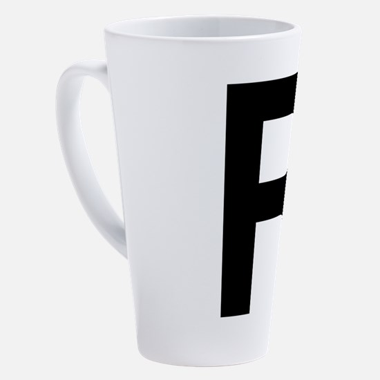 Funny Alphabet art 17 oz Latte Mug
