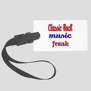 Classic Rock Music Freak Large Luggage Tag