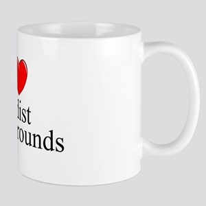 """I Love (Heart) Nudist Campgrounds"" Mug"