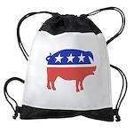 Bacon Logo Drawstring Bag