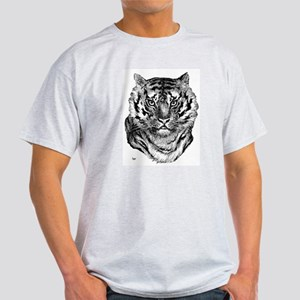 Tiger (Front) Ash Grey T-Shirt